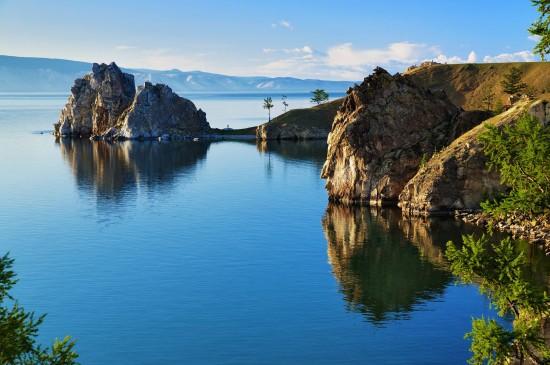 贝加尔湖唯美风景图片桌