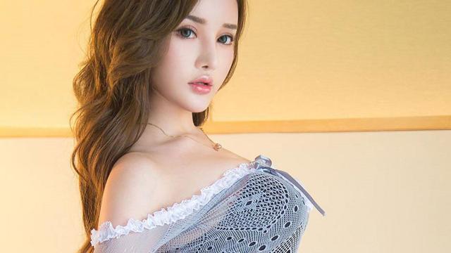 韓系風美女陳宇曦膚白貌美私房酥胸撩人誘惑寫真