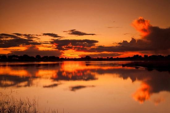 唯美落日时分风光美景桌