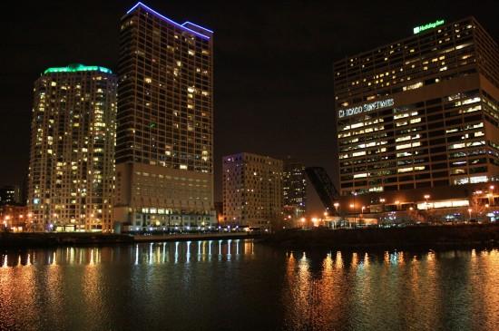 美國芝加哥建筑風景桌面壁紙