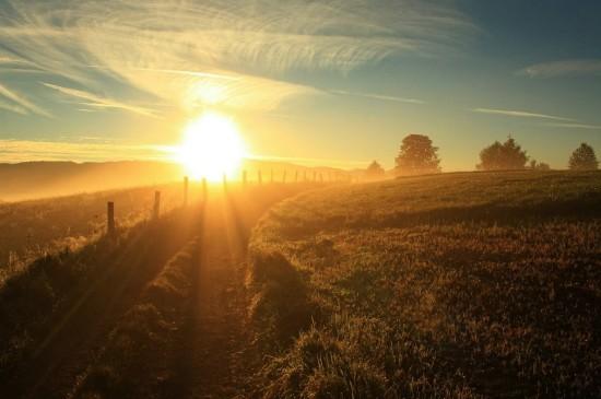絕美夕陽自然風景電腦壁紙