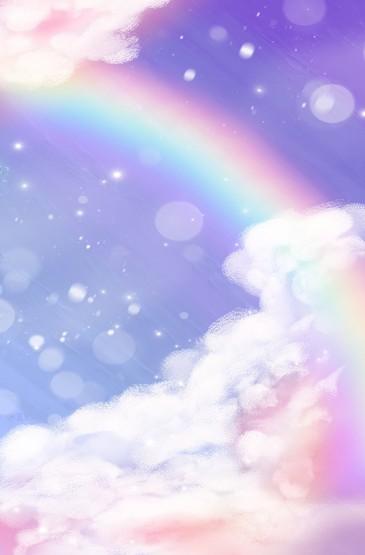 <梦幻彩虹油画棒手机壁纸