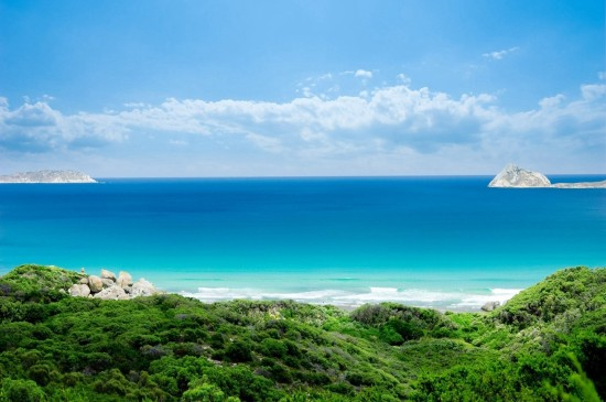 唯美壯觀海邊風景桌面壁