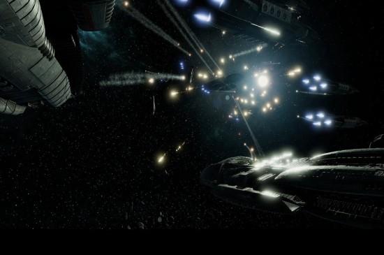 《太空堡壘卡拉狄加》戰艦桌面壁紙