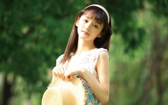 小清新森系少女唯美清纯田园写真