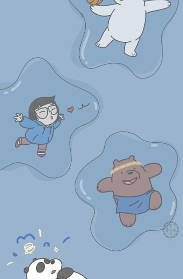 小清新可爱卡通小熊图片手机壁纸