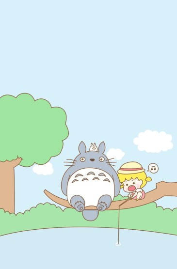 宫崎骏动漫龙猫与小女孩