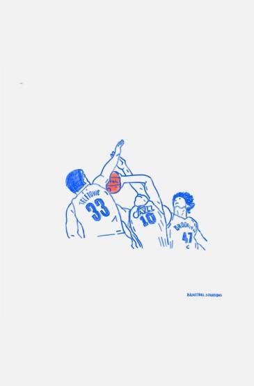 极简线条篮球系列手绘手机壁纸